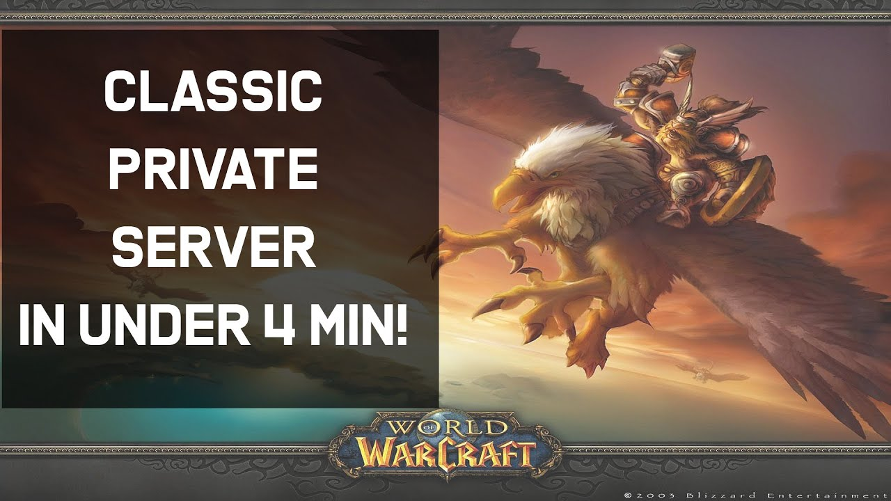 How To Create your own WOW Classic 1 12 Private Server in Under 4 min!  (Beginner friendly Tutorial)