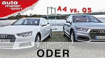 Audi Q5 vs. Audi A4 Avant | Entweder ODER | (Vergleich/Review) auto motor und sport