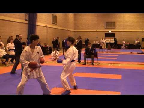 Tom Ip SCKS B Karate Team 1st Round Leicester Wado Kai 17/2/13