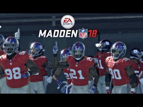 Madden 18 Giants vs Rams Gameplay Full 1st Half