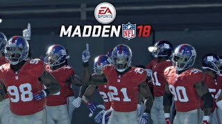 Madden 18 Giants vs Rams Gameplay Full 1st Half
