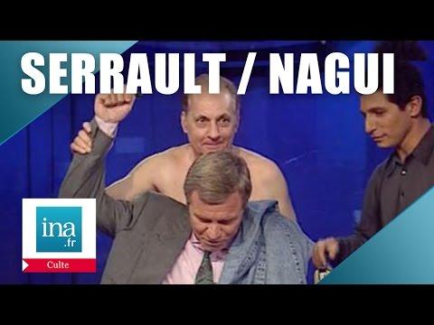 Culte : Michel Serrault et Nagui dans le journal de Bruno Masure | Archive INA