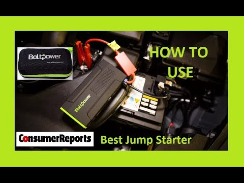 How To Use Bolt Power Portable Car Battery Jump Starter Best Rated Consumer Reports V8 Truck Rv D28