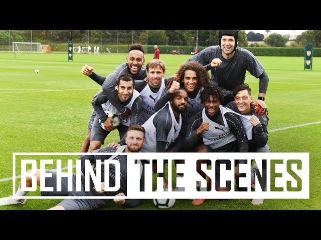 Shooting practice and a training match | Behind the scenes