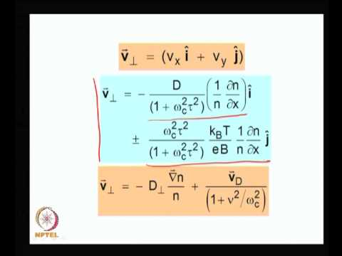 Mod-01 Lec-39 Diffusion in magnetized plasma