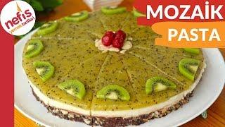 DAHA ÖNCE BÖYLESİNİ YEMEDİNİZ! Meyve Soslu Mozaik Pasta Tarifi