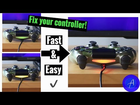 How to fix a PS4 controller with yellow and green flashing lights