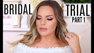 BRIDAL TRIAL MAKEUP TUTORIAL! WHAT AM I GOING TO WEAR? | PART 1 | Casey Holmes
