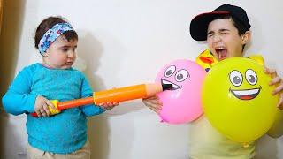 Celina take Balloons for Hasouna - سيلينا وحسونة بالونات