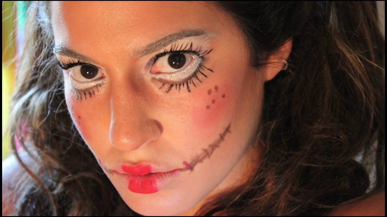 Creepy Rag Doll Tutorial You Scary Makeup