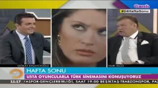 Ünü oyuncu Nuri Alço ve Yeşilçam'ın Gamzeli Güzeli Bahar Öztan 24 Haftasonu'ndaydı