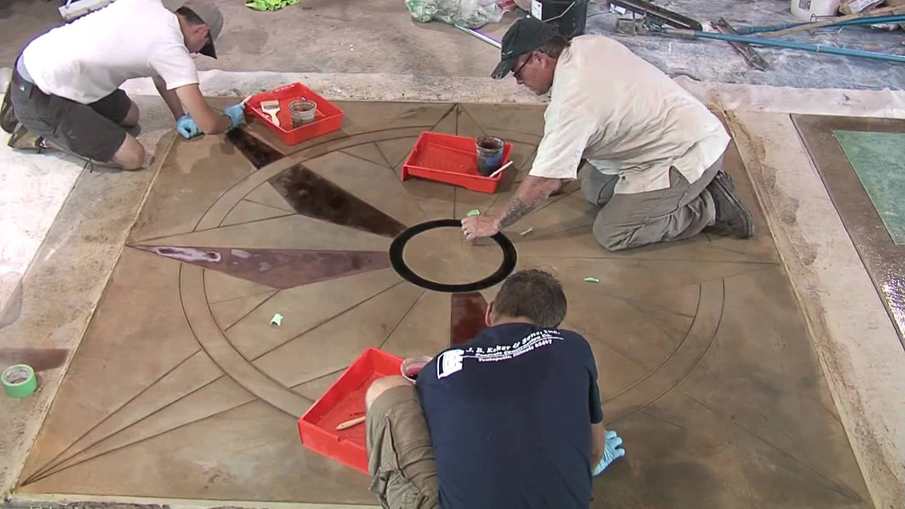 Saw cutting concrete patterns designs youtube for How to make designs in concrete