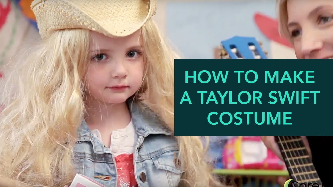 How To Make A Taylor Swift Costume Easy Diy Halloween Care Com Youtube