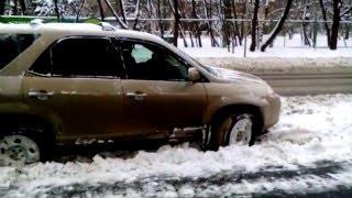 акура MDX 01 выезд с парковки 20.01.2016