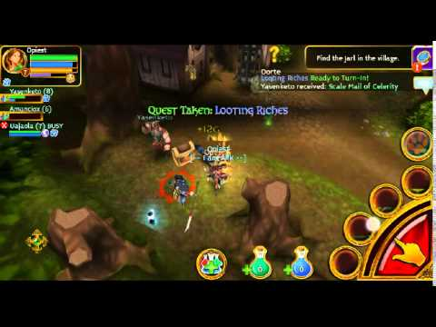 Arcane Legends Gameplay-hit Cross Platform (android/iOS/Chrome) MMORPG From Spacetime Studios