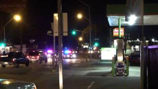 Inglewood Police Chase Jan 13, 2013 - Lap 3 Inglewood Raceway - Drive Through