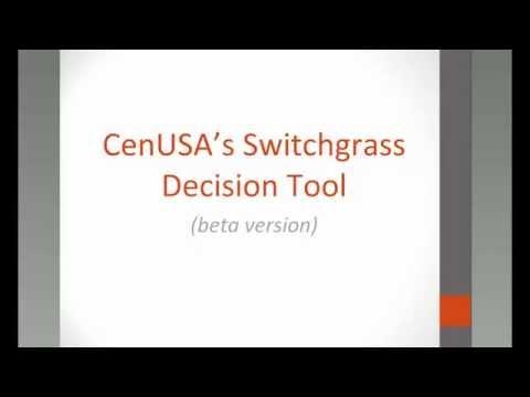 CenUSA Bioenergy Switchgrass Decision Tool