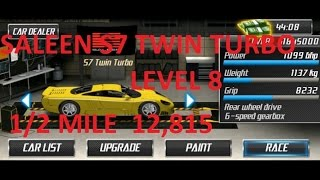 Repeat youtube video Drag Racing Saleen S7 Twin Turbo Level 8 Tune 12,815 1/2 Mile