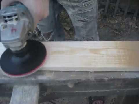 Как шлифовать дерево болгаркой с опорной тарелкой