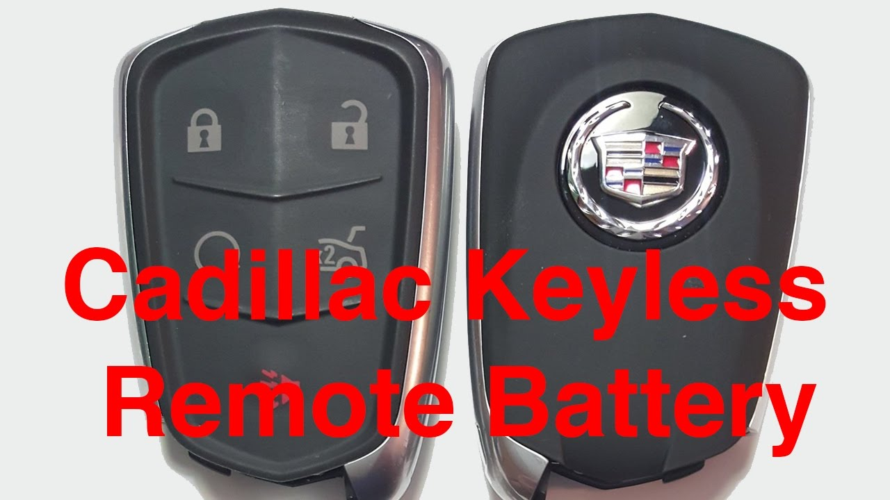 How to open a cadillac key fob
