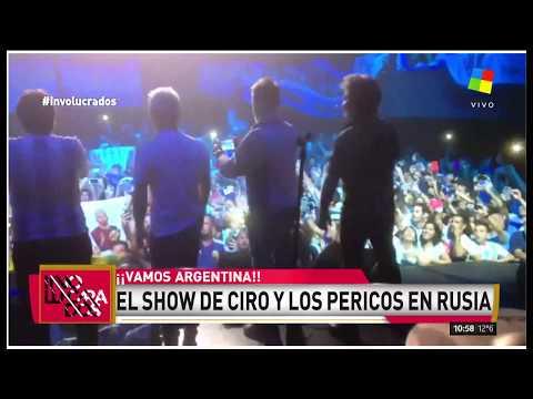 Ciro y Los Pericos tocaron el himno en Rusia