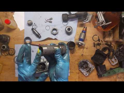 How to assembly Hitachi H45MR demollition hammer o-rings armature carbon brushes replace