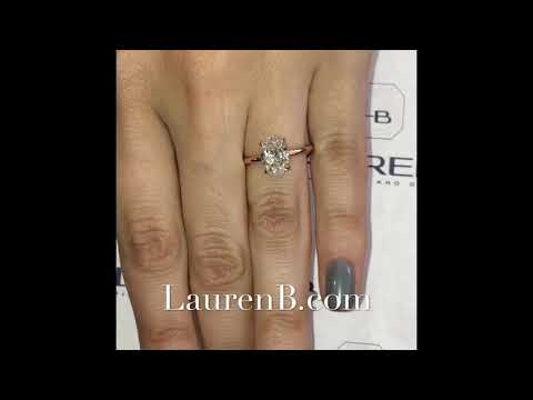 1.79 Ct Oval Diamond Rose Gold Solitaire Engagement Ring