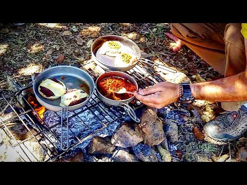 MEXICAN BREAKFAST CAMP COOKING – Keith TITANIUM ULTRALIGHT Cooking Gear – TEST And REVIEW