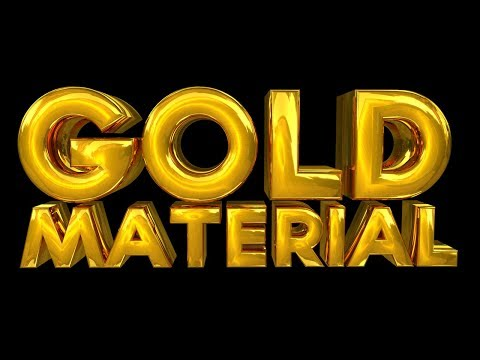 Cinema 4D  Tutorial -  Create a Gold  Material
