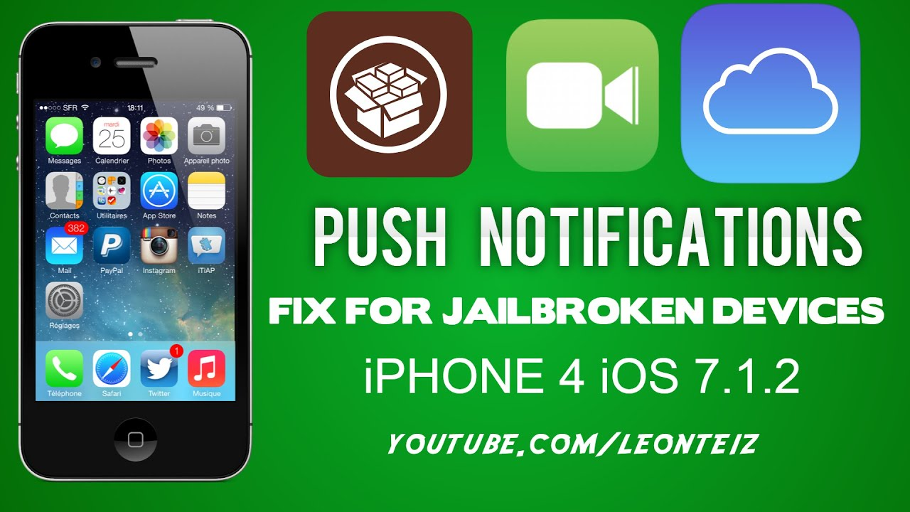 iphone 4 facetime fix push notifications and facetime imessage on bypassed 10856