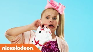 JoJo Siwa & Ella Anderson Teach 'How To Make a Crunchy Holiday Slime Snowman' ☃️  | Nick