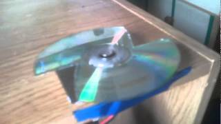 Home-made disk fan, from a CD/DVD player dc moter.