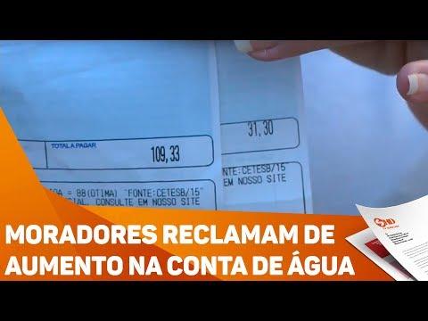 Moradores reclamam de aumento na conta de água - TV SOROCABA/SBT