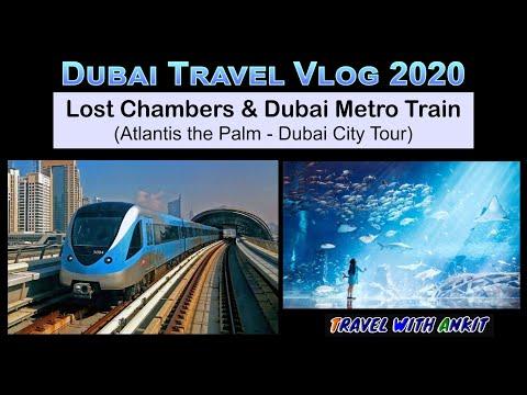Lost Chambers Aquarium & Dubai Metro Train 2020 –  UAE Vlog