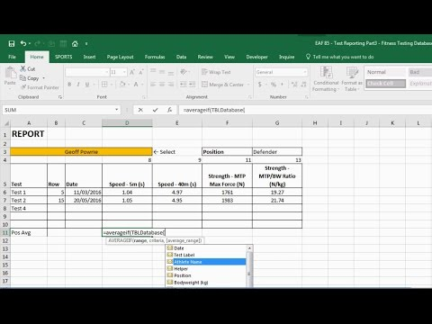 EAF #85 - Use Excel to Automatically Create Reports -  Part 3: Create a Dynamic Report Builder