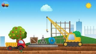 Tony the Truck and his Friends Construction Vehicles Truck , Excavator -Truck games for kids
