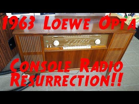 "Musikschrank Console Tube Radio Loewe Opta ""Oslo Stereo"" Type 42206 - Part 1 of 2"