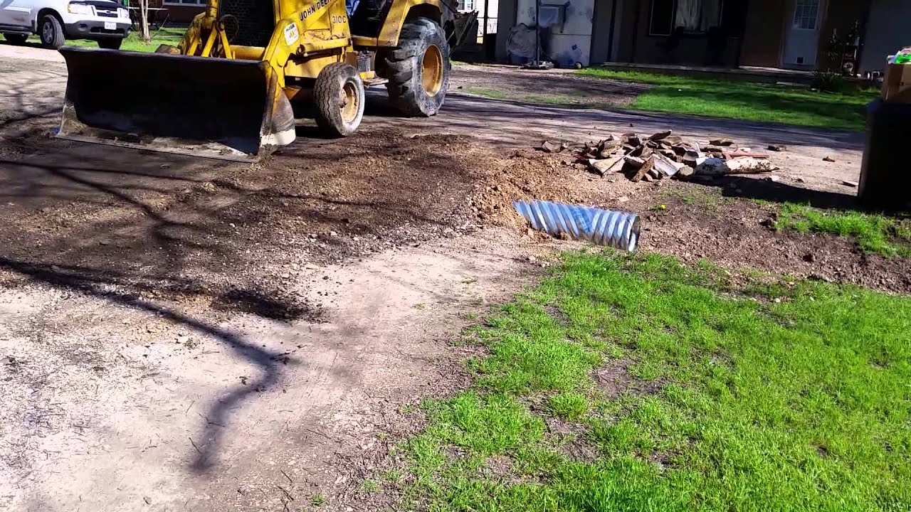 Culvert Pipe Replacement 3-24-15 - YouTube