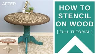 How To Stencil On Wood: Upcycled Table With Mandala Stencil [ FULL TUTORIAL ]