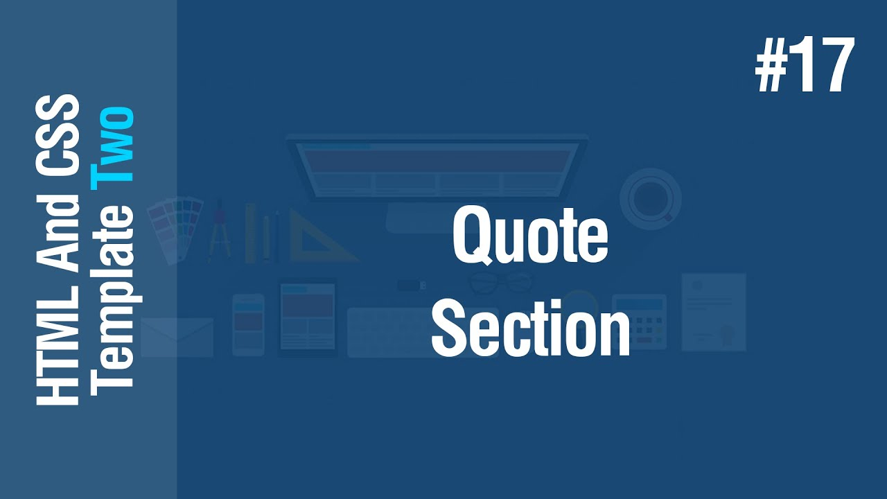[Arabic] HTML & CSS Template Two 2021 #17 - Quote Section