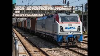 코레일 8535호 컨테이너 화물열차 의왕역 정차