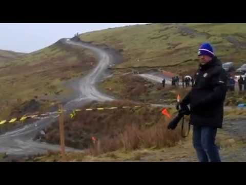 Sweet Lamb service area and stage - Mid Wales Rally 2015