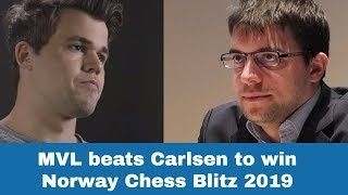 Maxime Vachier-Lagrave  beats Carlsen to win Norway Chess Blitz 2019