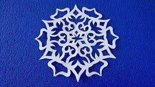 Как вырезать красивую Новогоднюю снежинку из бумаги. Новогодние поделки. Snowflakes from paper.