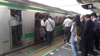 高画素◆埼京線 朝 通勤ラッシュ JR赤羽駅 2012.6.25 08:13