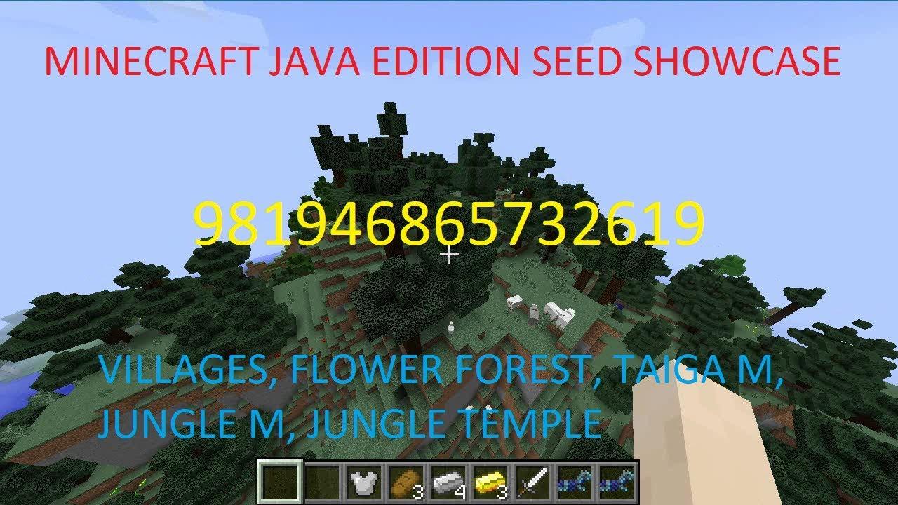 Minecraft Java Edition Seed Showcase: VILLAGES, BIOME VARIANTS