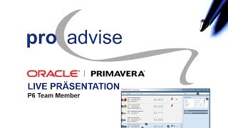 Oracle Primavera P6 Team Member Webcast