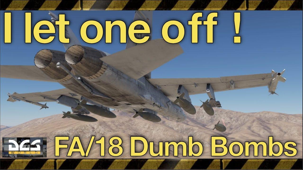 I let one off! | DCS World | Dumb Bombs Tutorial