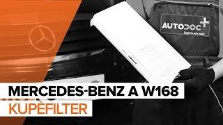 Hvordan bytte Kupèfilter på MERCEDES-BENZ A W168 [BRUKSANVISNING]