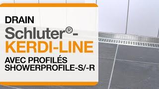 Comment installer la grille Schluter®-KERDI-LINE et Systèmes de profilés SHOWER-PROFILE-S/-R